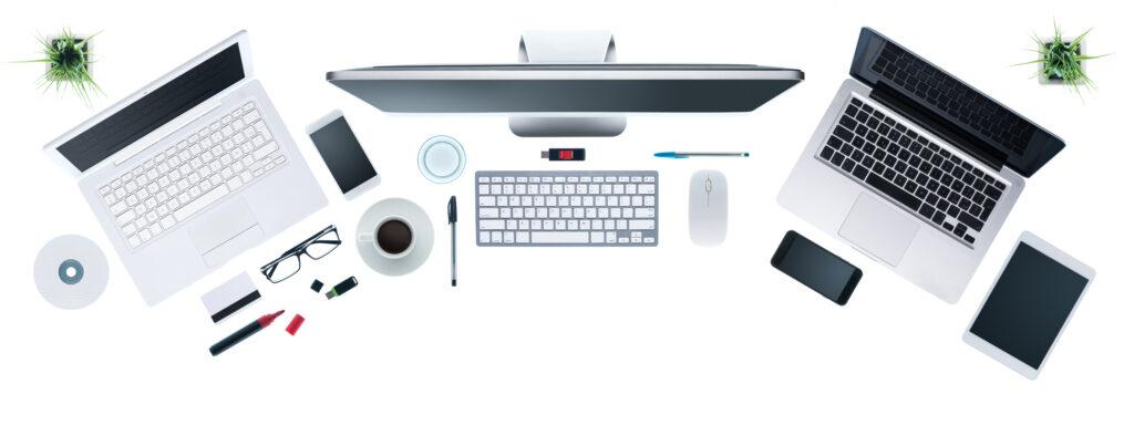 Escritorio empresarial de alta tecnología